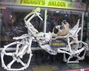 Saloon Bone Bike Display